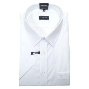 Eterna Comfort Fit Hemd Halbarm Uni Popeline Weiß 1100/00/K198, Größe: 48