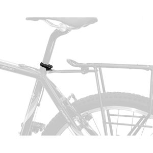 M-Wave Racky Sitzrohrklemme für Gepäckträgerbefestigung Fahrrad MTB Mountainbike Klemmschelle Gepäckträger, Größe:31.8 mm