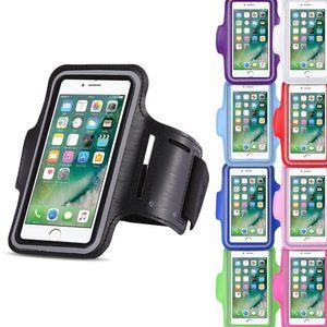 Apple iPhone 8 Jogging Tasche Handy Hülle Sportarmband Fitnesstasche Lauf Bag, Farben:Schwarz