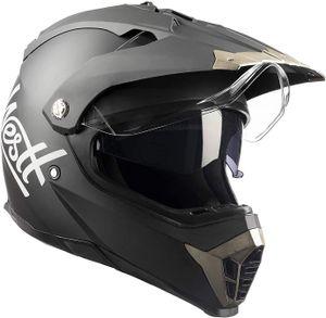 Westt Cross X Motocross Motorrad Helm Doppelvisier Matt Schwarz E, Farbe:Schwarz, Größe:M (57-58cm)