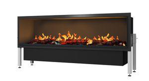 muenkel design wall fire electronic PRO [Opti-myst Elektrokamineinsatz Wandeinbau]: 1650 mm - mit Holzimitat - Ohne Heizung - Wasserleitung