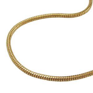 vergoldete Schlangenkette ca. 60 cm Kette, Schlangenkette, vergoldet