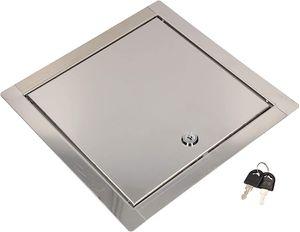 KOTARBAU® Revisionsklappe Größe 25x25cm mit Schlüssel Edelstahl Silber für Revisionsschächte