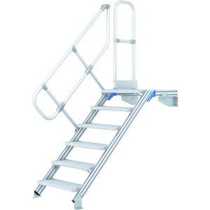 ZARGES LM-Treppe mit Plattform 60° 7 Stufen, 1000 mm breit, Höhe 1,75 m