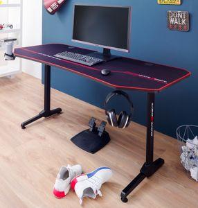 Gaming Schreibtisch DX-Racer in schwarz Computertisch Gaming Desk 160 x 75 cm