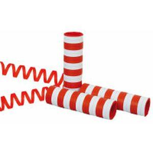 Luftschlangen Rot-Weiß, 5 Stück
