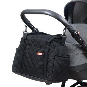 BabyLux Wickeltasche Kinderwagentasche Pflegetasche CandyPIK SCHWARZ