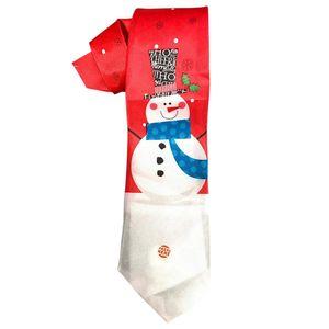 Christmas Shop Weihnachtskrawatte mit Musik RW6388 (Einheitsgröße) (Schneemann)