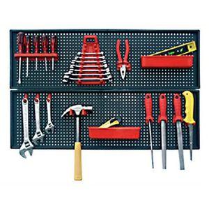 Werkzeugwand Wandregal Werkzeughalter 80 x 50 cm Kunststoff