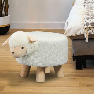 Kinderhocker Sitzhocker Tier Hocker Kinderstuhl Tierhocker Stuhl Schaf