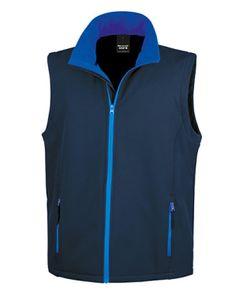 Herren Soft Shell Bodywarmer / Wasserabweisend, atmungsaktiv - Farbe: Navy/Royal - Größe: XXL