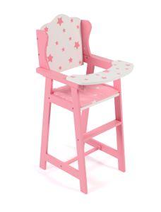 Puppen-Hochstuhl, Stars pink