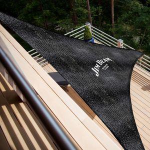 Jim Beam Sonnensegel Sonnenschutz/Dreieck/Wetterfest/Schattenspender 5mx5mx5m inkl. Zubehör