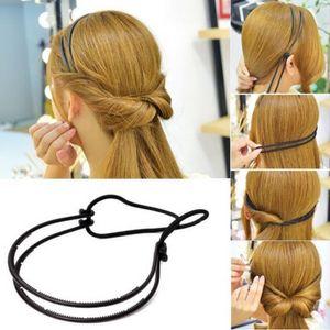 Frisurenhilfe Haarreif mit Haarband in Schwarz