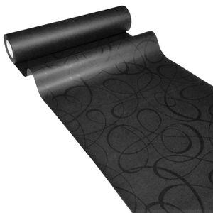 50m x 0,40m JUNOPAX® Papier Tischläufer LOOP schwarz
