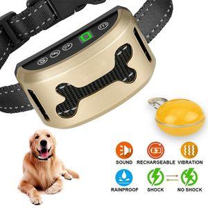Anti-Bell Wiederaufladbares Hundetraining Halsband Anti-Bark Safe Antibell Hundetrainer Ton Vibration