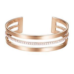 Esprit Damen Armband Armreif JW52896 Edelstahl Rosé ESBA01391C580