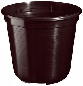 5er Set Pflanzkübel Blumentopf Standard 45 cm rund aus Kunststoff Sparpaket, Farbe:braun