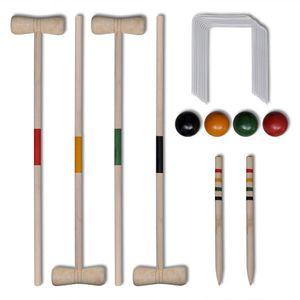 vidaXL Krocket-Set Holz für 4 Personen