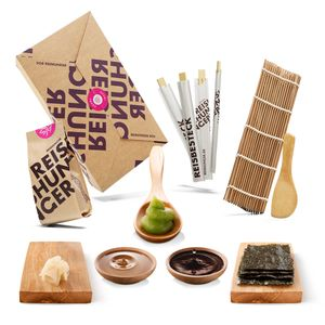 Reishunger Sushi Box (8-teilig, 4 Personen) - Zutaten Set für Sushi selber machen