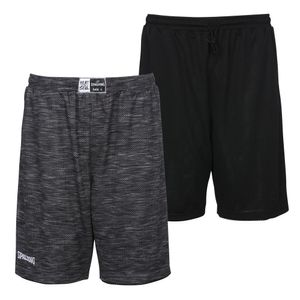 SPALDING Street Reversible Shorts grau melange/schwarz 4XL