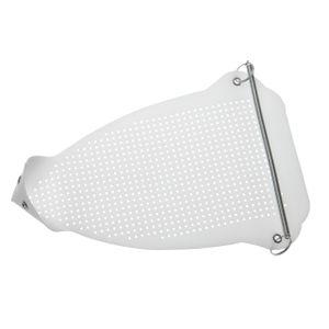 vhbw Universal Textilschutzsohle für Bügeleisen - Bügelschuh, PTFE (Teflon) Beschichtet, 235 x 160 mm, Weiß