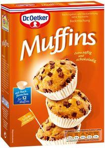 Dr. Oetker Backmischung für Muffins mit Schokostückchen (360g Packung)
