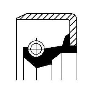 CORTECO Wellendichtring Verteilergetriebe