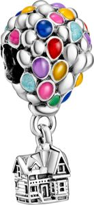 Pandora Disney Charm 798962C01 Disney Up House And Balloons Silber 925 Emaille