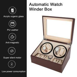 4+6 Automatisch Beweger Uhren Aufbewahrungskoffer Uhrenbeweger Storage Box//Case