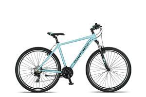 27,5 Zoll Alu Aluminium Mountainbike Mtb Herren Jugend Fahrrad Herrenfahrrad Herrenrad Rad Bike 21 Shimano Gang Federgabel Gabelfederung MIRAGE Aqua Blue 27249