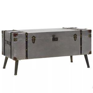 vidaXL Couchtisch MDF und Aluminium 102 x 51 x 47,5 cm