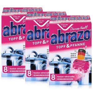 abrazo Topf & Pfanne Reinigungskissen - Die rosa Kraft (3er Pack)