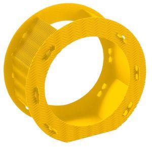 Folia Rundlaternen Rohlinge aus 3D-Wellpappe, Ø 22cm, 1 Stück, gelb