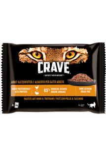 Crave CHICKEN & TURKEY PATE, Snacks, Katze, Erwachsener, Huhn, 85 g
