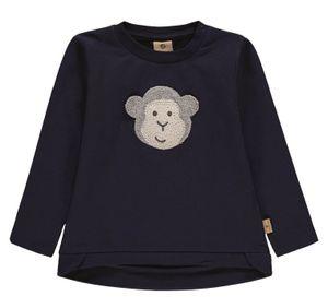 bellybutton® Mother Nature & Me Mädchen Sweatshirt Quietsch Affe, Größe:98, Präzise Farbe:Blau