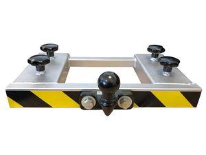 Rangierhilfe Gabelstapler Doppel-Gabel Anhänger Kugelkopf Anhängerkupplung Wohnwagen Silber