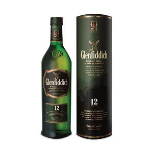 Glenfiddich 12 Years Single Malt 40% 1,0L