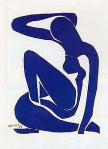 Henri Matisse Poster Kunstdruck - Blauer Akt (80 x 60 cm)
