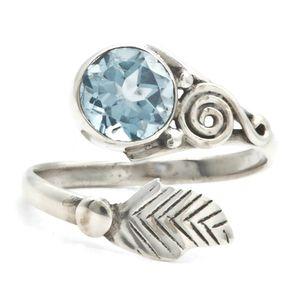 Blau Topas Ring 925 Silber Sterlingsilber Damenring blau (MRI 149-62),
