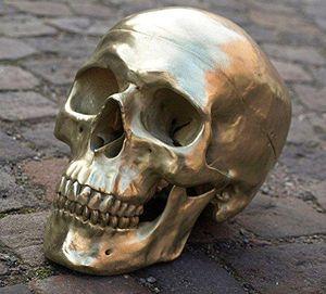 Skulptur Bronze Totenschädel - Skull Deko