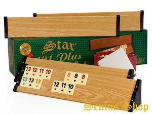 SEMUS -STAR Holz Optik Rummy Okey mit Melamin Spielsteine Türkische Okey