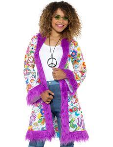Damen Kostüm 60er Jahre Hippie Mantel Karneval Fasching Gr.L/XL