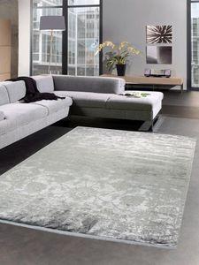 Orientteppich Wohnzimmerteppich Barock Vintage grau mit Fransen Größe - 160x230 cm
