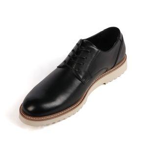 BIGTREE  »Modern« Herren Business Leder Casual  Schnürschuhe helle Laufsohle, Schwarz, EU-Größe: 43