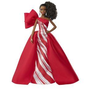 Barbie Signature Holiday Barbie Puppe (brünett mit Zopf)