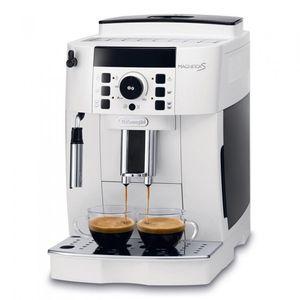 Delonghi ECAM 21.117.W/B Vollautomatische Espressomaschine, Kunststoffgehäuse, Integriertes Mahlwerk, Milchaufschäumer, Wasserfilter