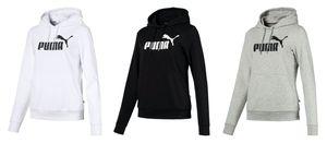 PUMA ESS Logo Hoody TR Damen Sweater HellGrau Heather, Größe:L
