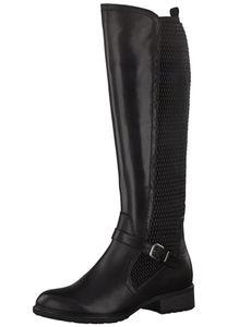 Tamaris Damen Elegante Stiefel 1-25511-25 Schwarz 001 B/Synthetik mit TOUCH-IT, Groesse:41 EU