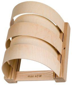 Sauna Lampenschirm Holzblendschirm 5 Sperrholzleisten halbrund L200xB195xH165mm